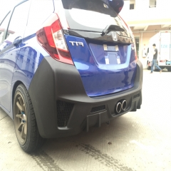 Carbon Fiber Resin PP Rear Bumper Lip for Honda Fit