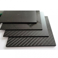 Custom Size Black Carbon Fiber Sheet Twill Matte