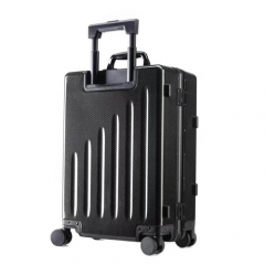 WISE Carbon Fiber Black Suitcase Wheeled Carry-On